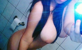 Big tit Asian Selfie