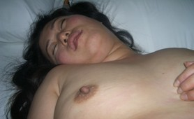 Chubby amateur Korean wife