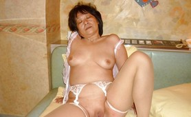 Asian granny cum dump