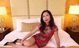 MATURE ASIAN MILF FUCKS WHITE COCK